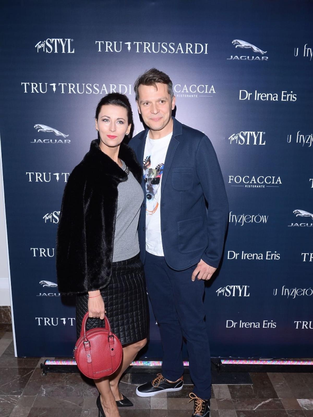 Martyna Kliszewska i Jakub Przebindowski na pokazie mody Tru Trussardi