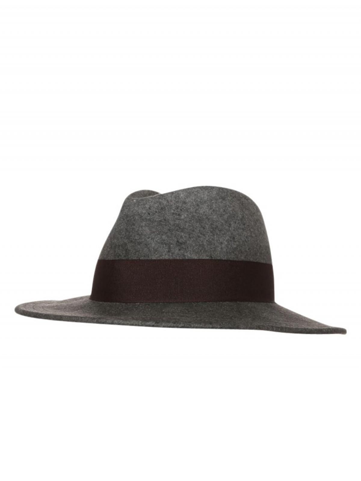 szary kapelusz