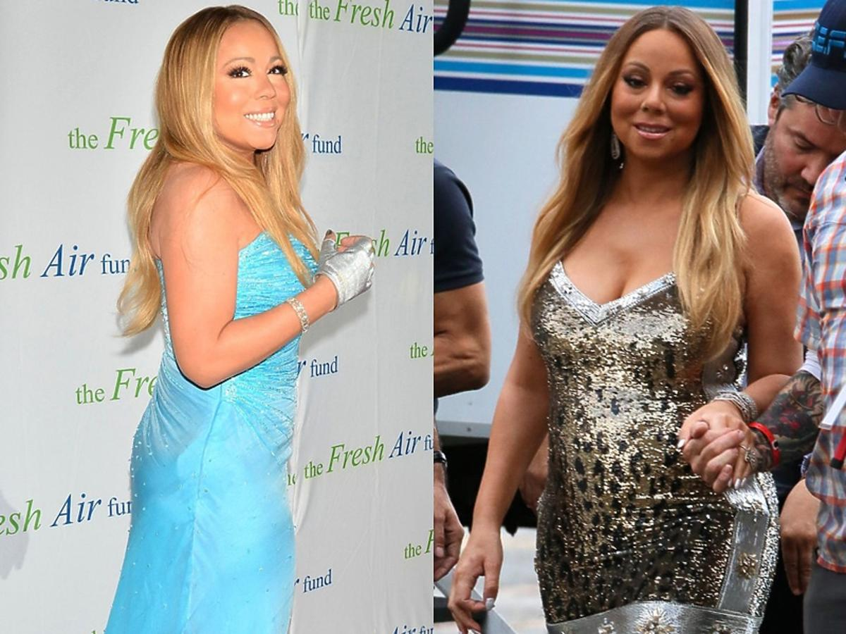 Mariah Carey jak zmieniła sie sylwetka gwiazdy, porównanie gruba i chuda