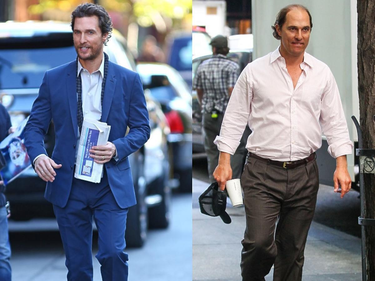 Matthews MacConaughey jak aktor zmienił się do nowej roli.