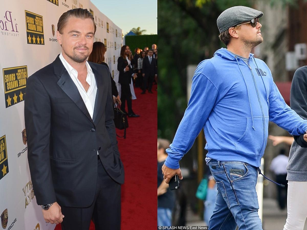 Leonardo DiCaprio porównanie jak wygladał kiedyś i jak wygląda dziś.