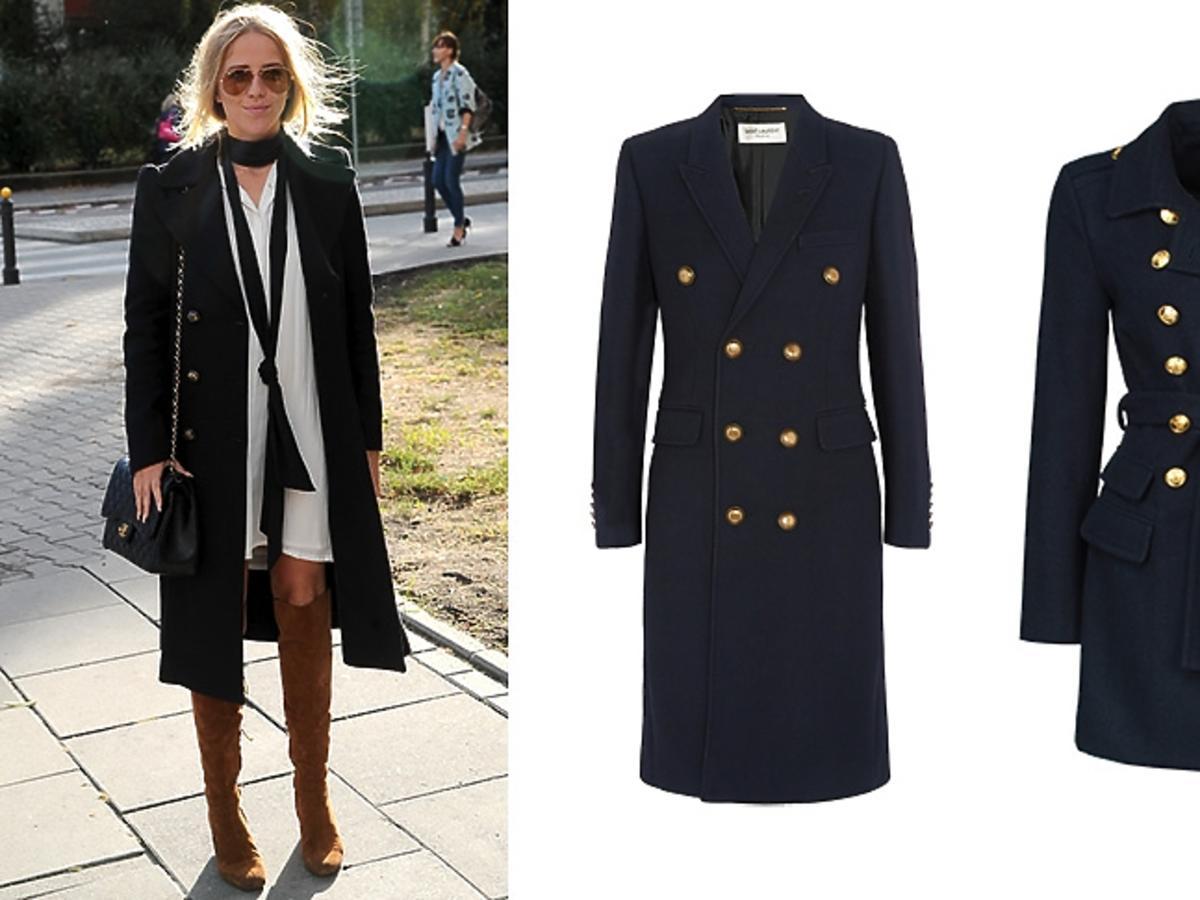 Jessica Mercedes w modnym militarnym płaszczu