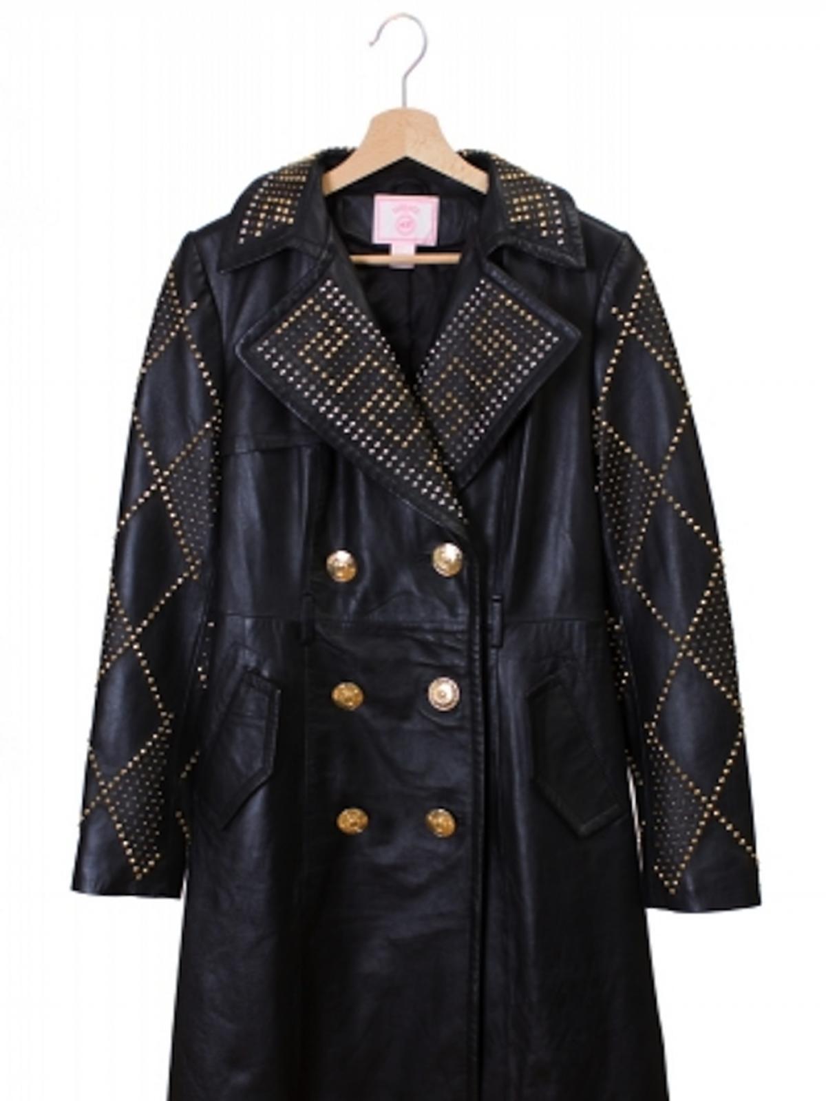 Skórzany płaszcz Versace, 2492 zł
