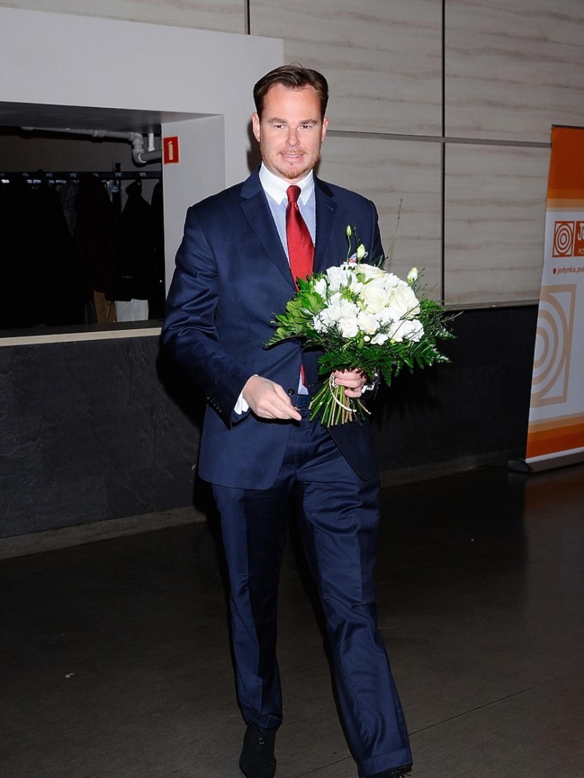 Jan Lubomirski z kwiatami