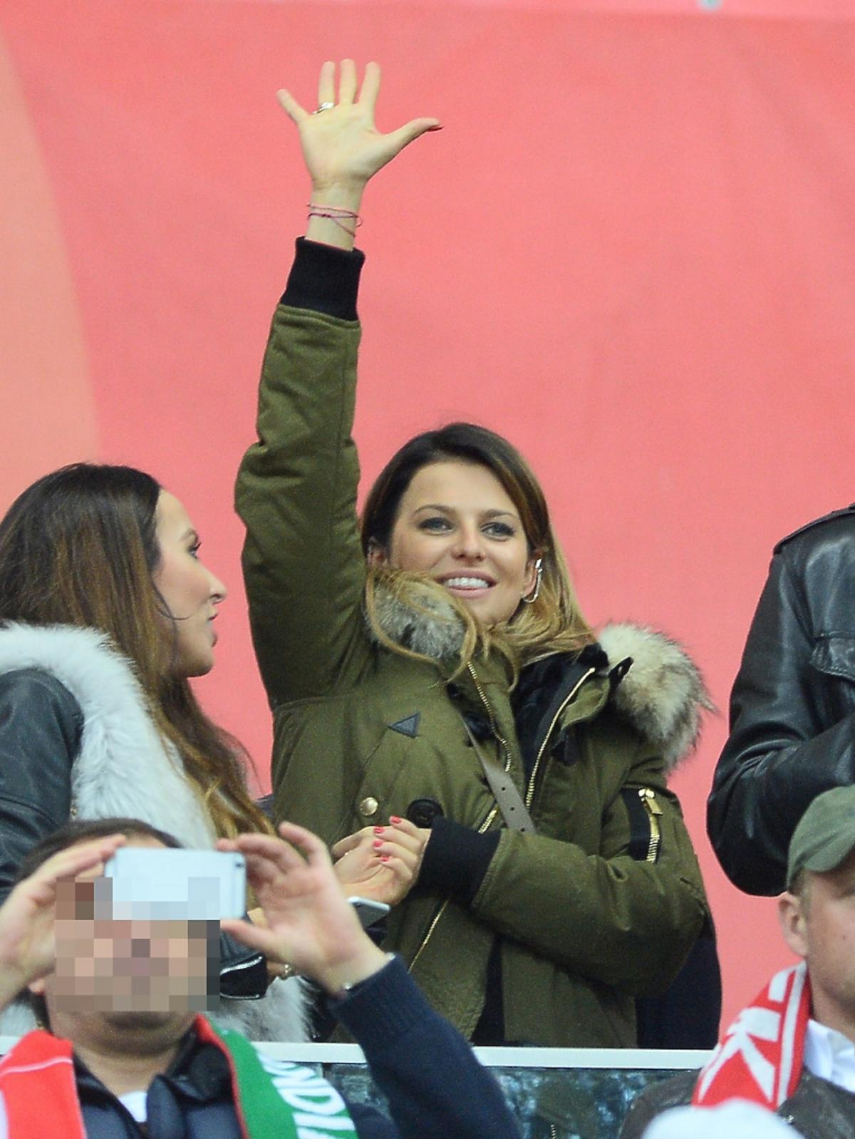 Anna Lewandowska na meczu Polska-Irlandia
