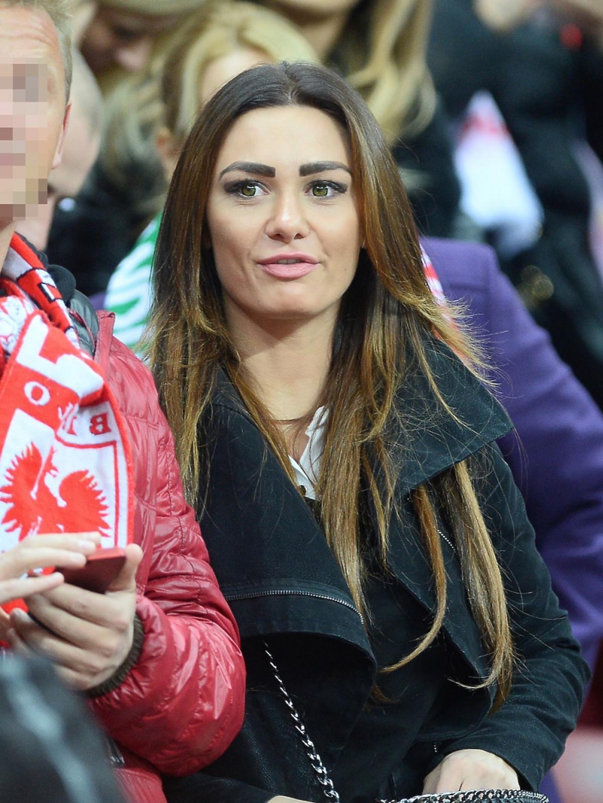 Jessica Ziółek na meczu Polska-Irlandia