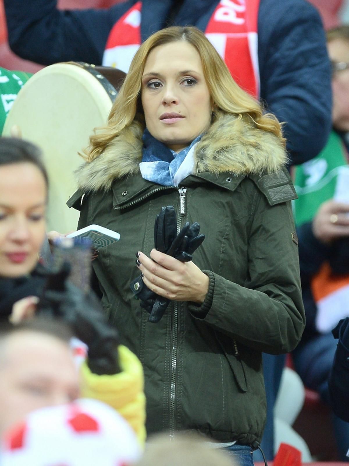 Paulina Chylewska na meczu Polska-Irlandia