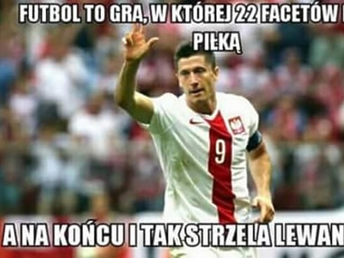 Mecz Polska-Irlandia Robert Lewandowski mem
