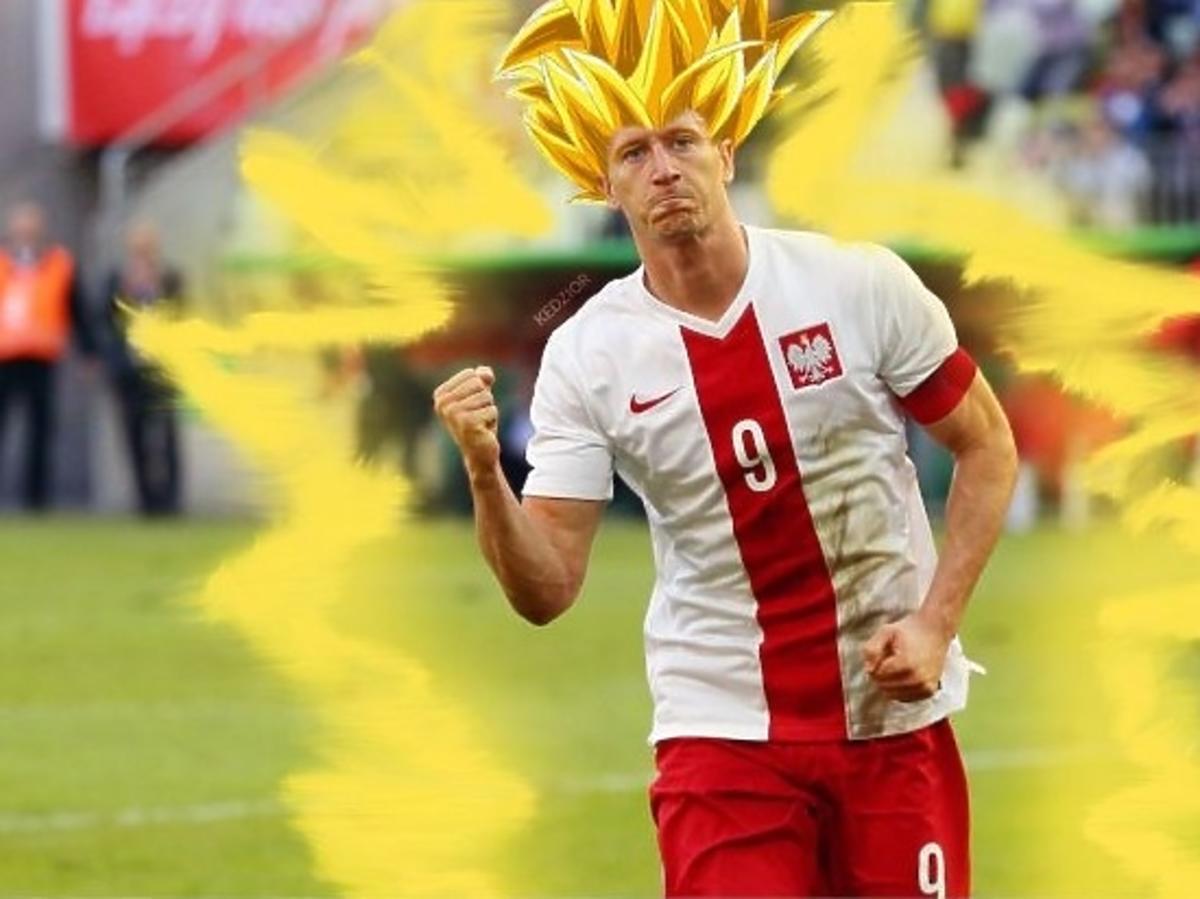 Mecz Polska-Irlandia, mem Lewandowski jako Krol Julian