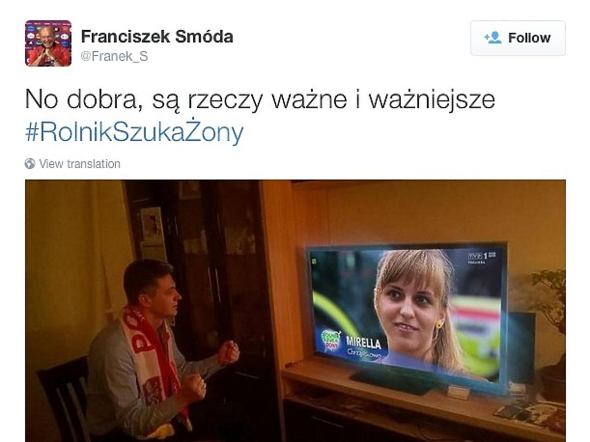 Mecz Polska-Irlandia, mem z rolnik szuka żony