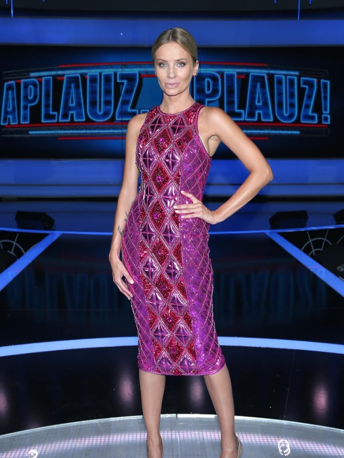 Agnieszka Szulim na nagraniu Apluaz Apluaz