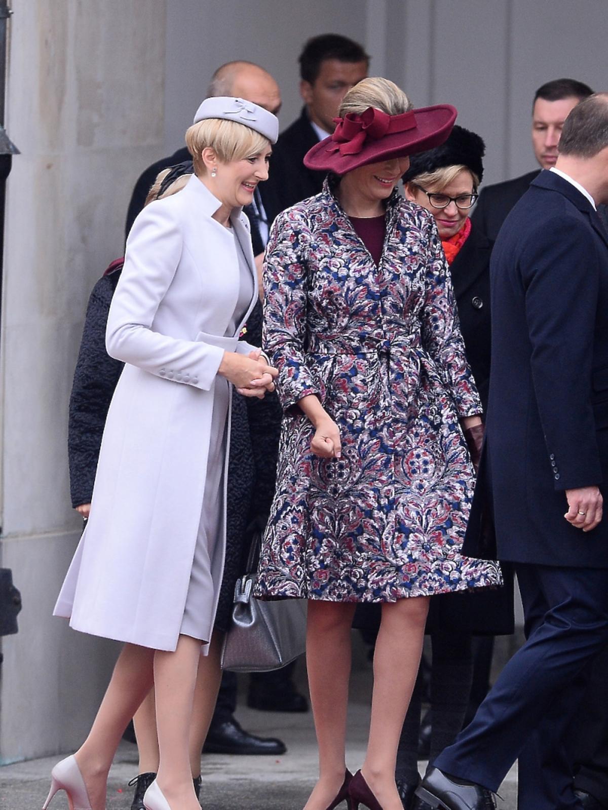 Agata i królowa Matylda w Warszawie