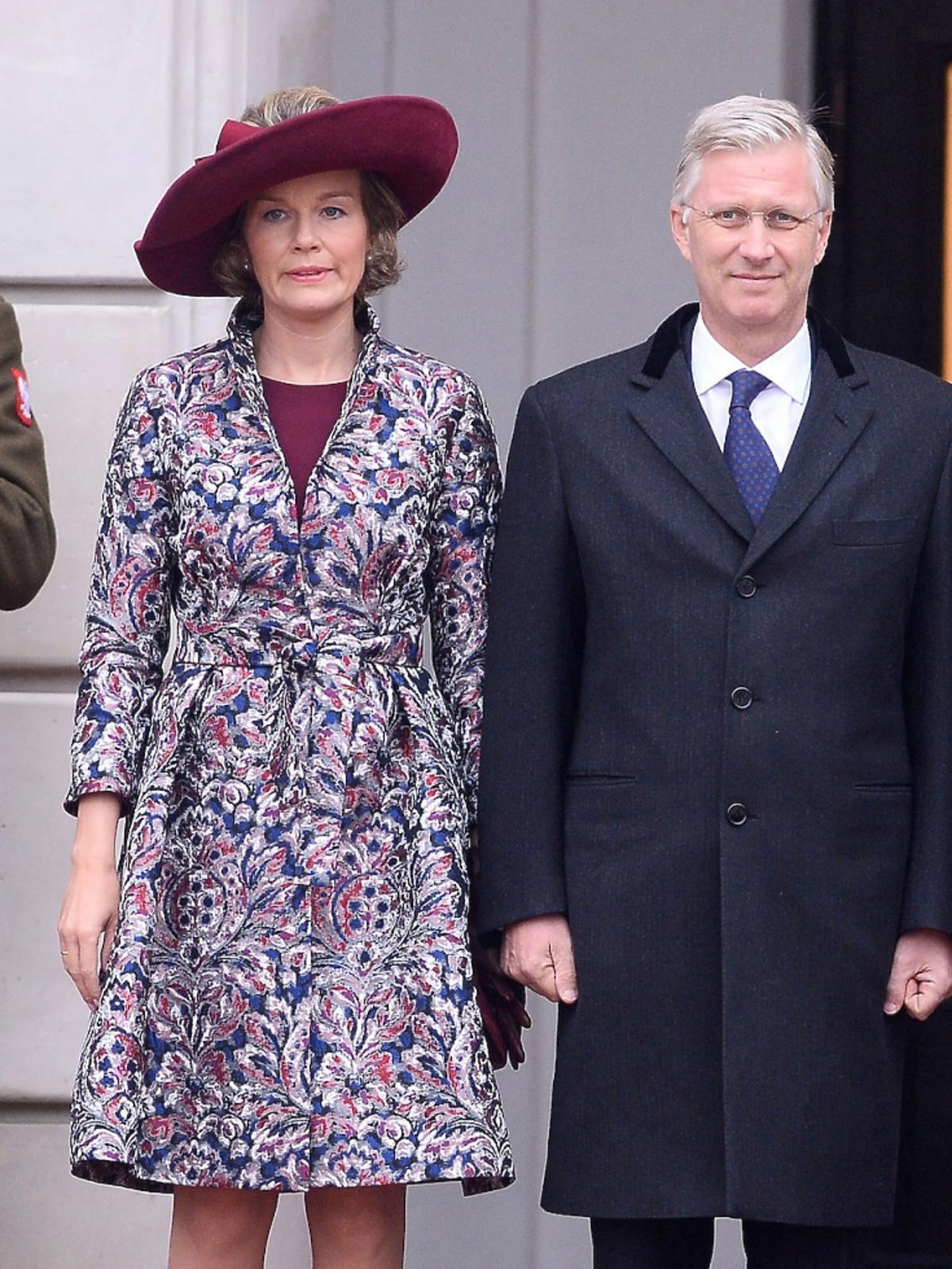 Królowa Matylda i Król Filip podczas wizyty w Polsce