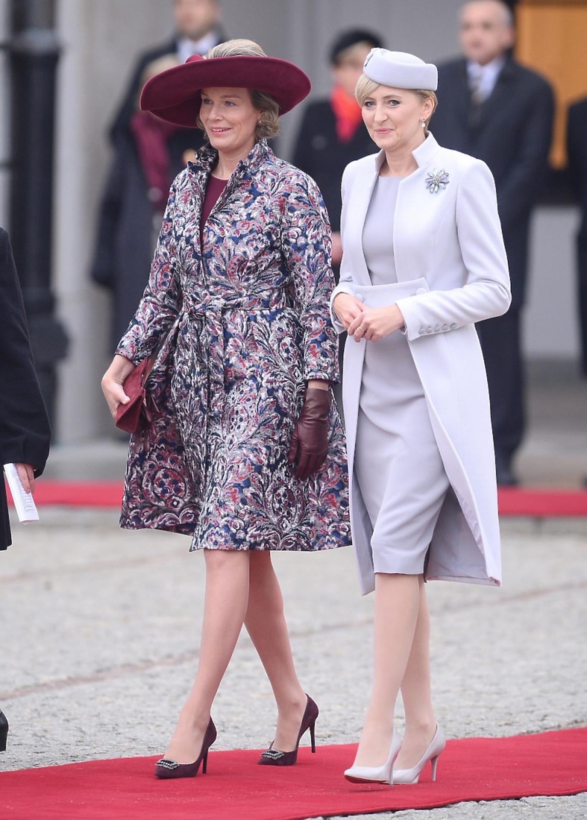 Królowa Matylda i Agata Duda podczas wizyty w Polsce