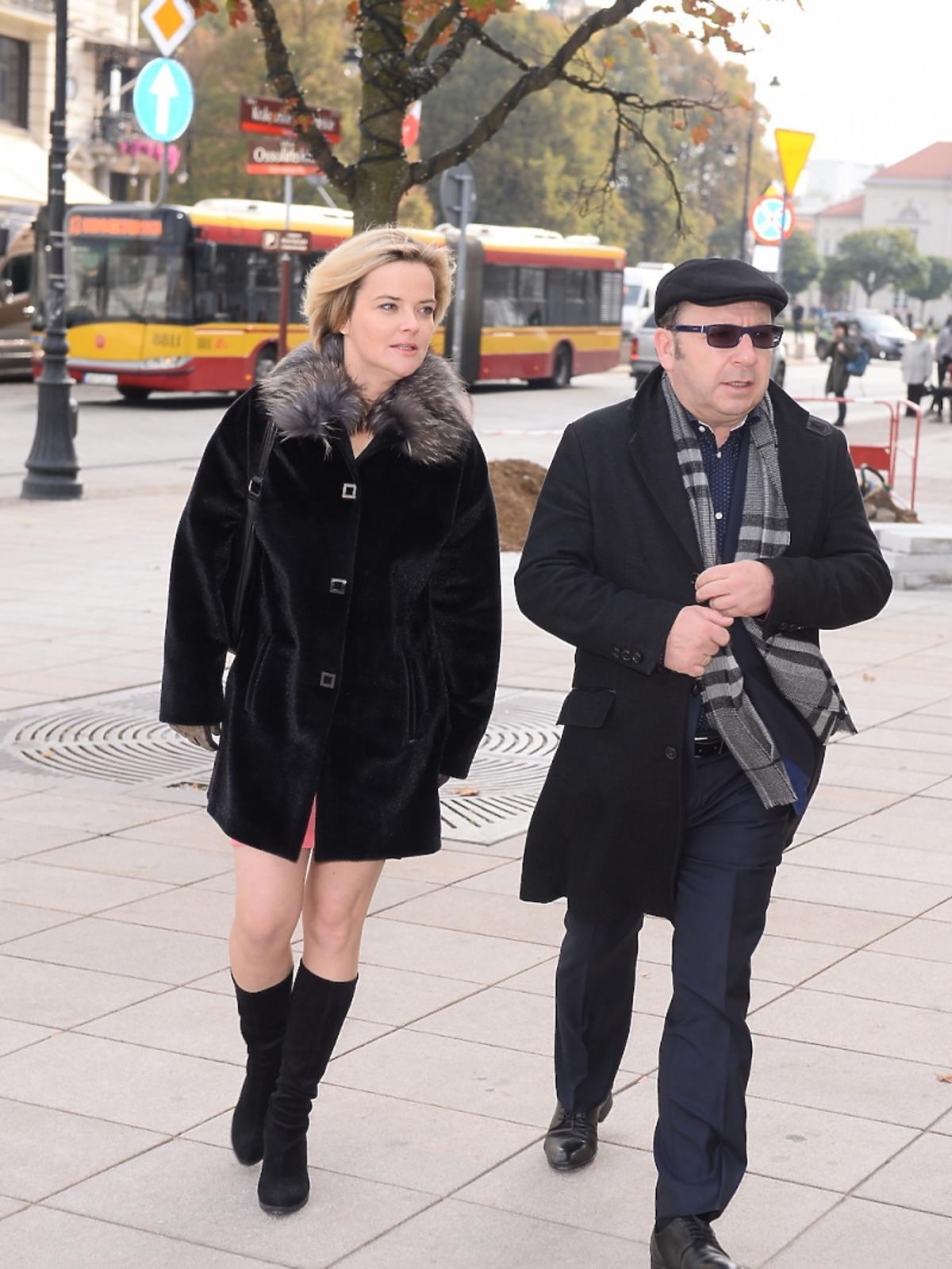 Monika i Zbigniew Zamachowscy na rozdaniu medali Gloria Artis