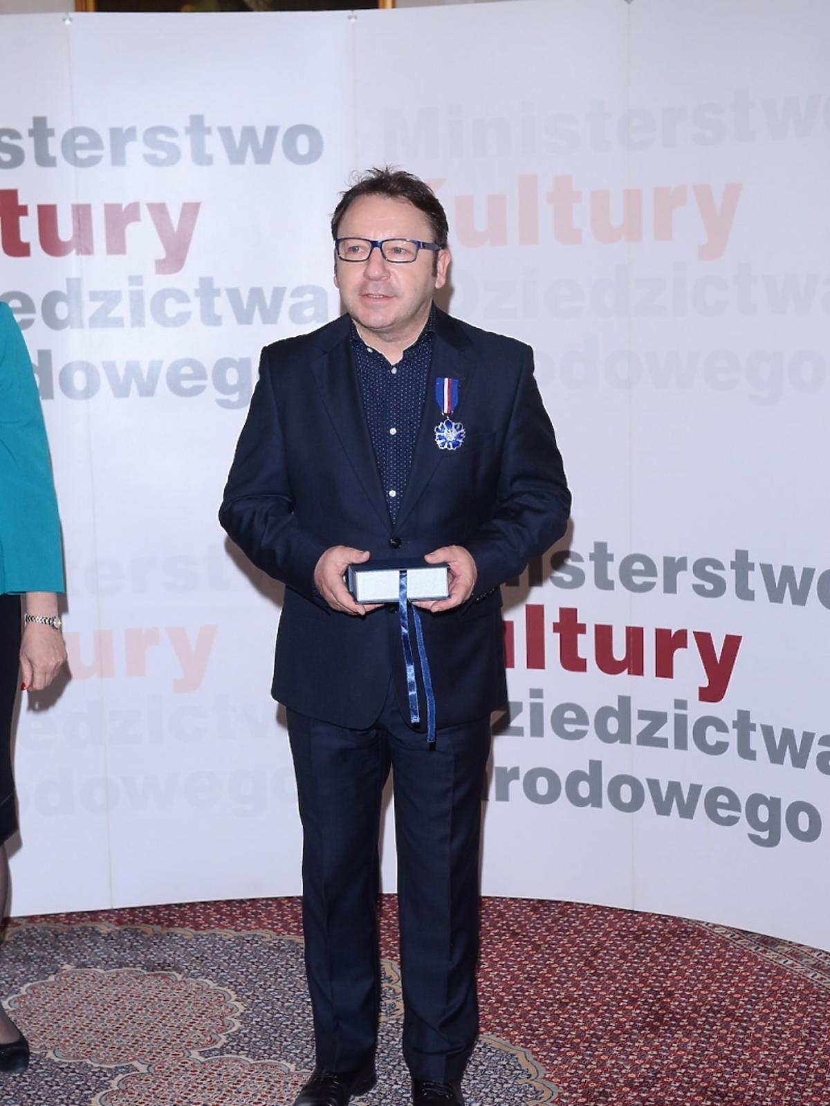 Zbigniew Zamachowski na rozdaniu medali Gloria Artis