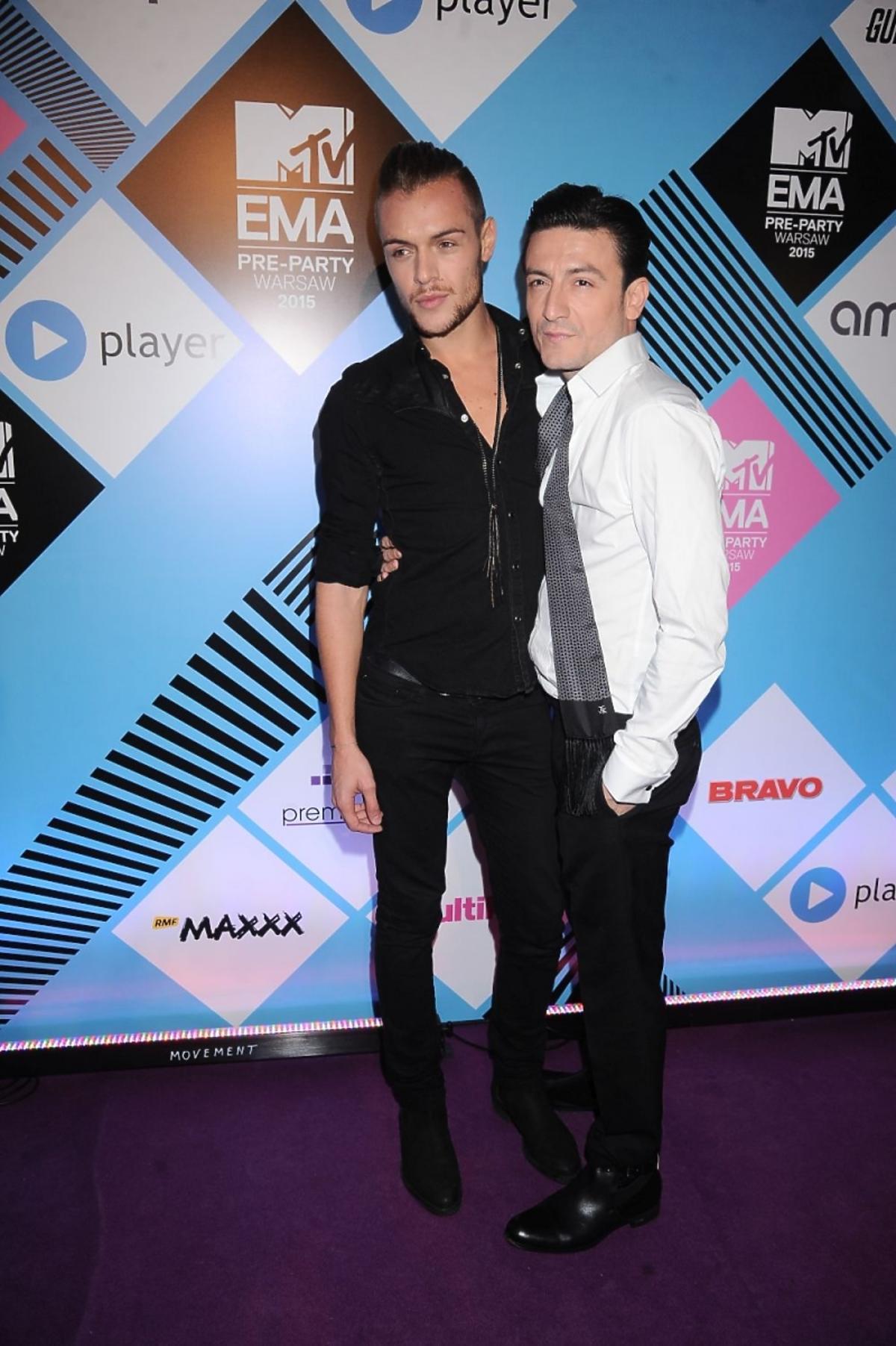 Michał Kwiatkowski z chłopakiem na MTV EMA Pre Party 2015