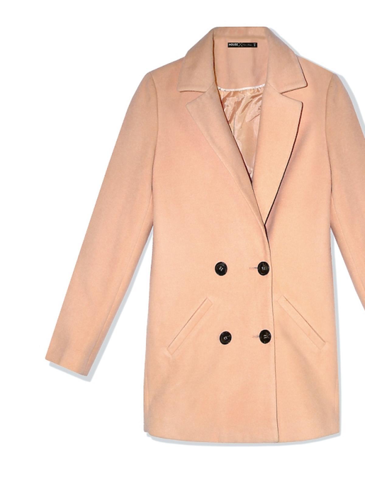 brzoskwiniowy płaszcz