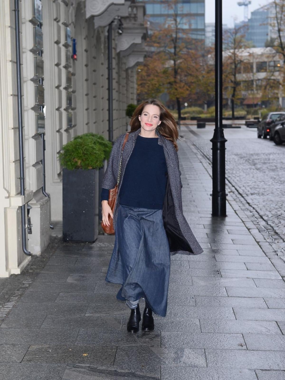 Anna Dereszowska na zbiórce pieniędzy