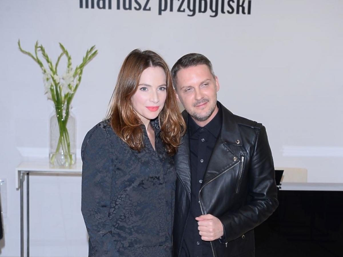 Anna Dereszowska i Mariusz Przybylski na otwarciu centrum MODO Domy Mody