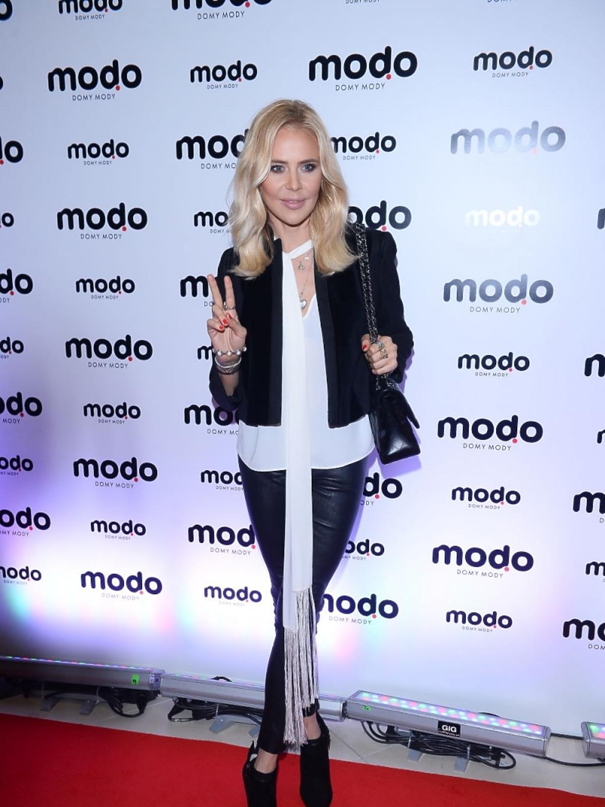 Maja Sablewska na gali finałowej otwarcia centrum MODO Domy Mody