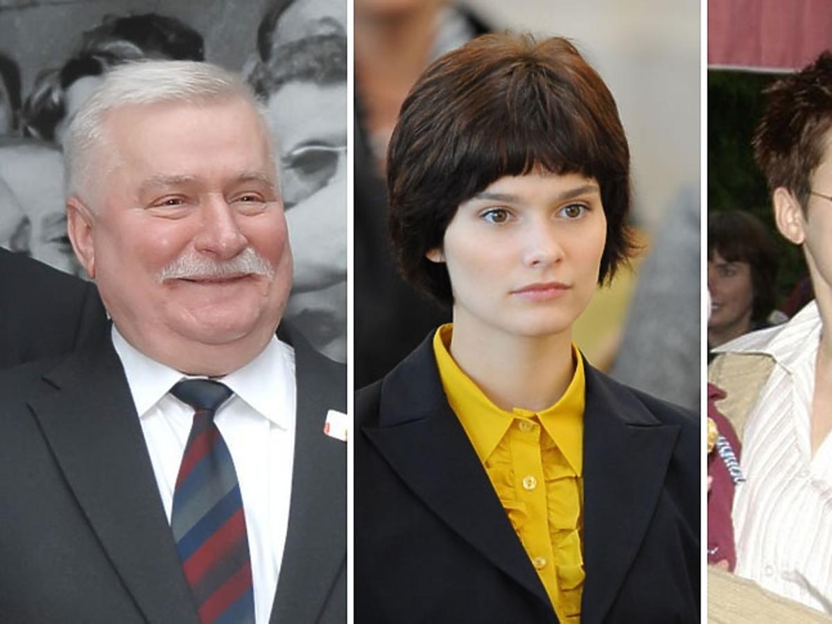 portrety Lech Wałęsa i córki Brygida oraz Anna