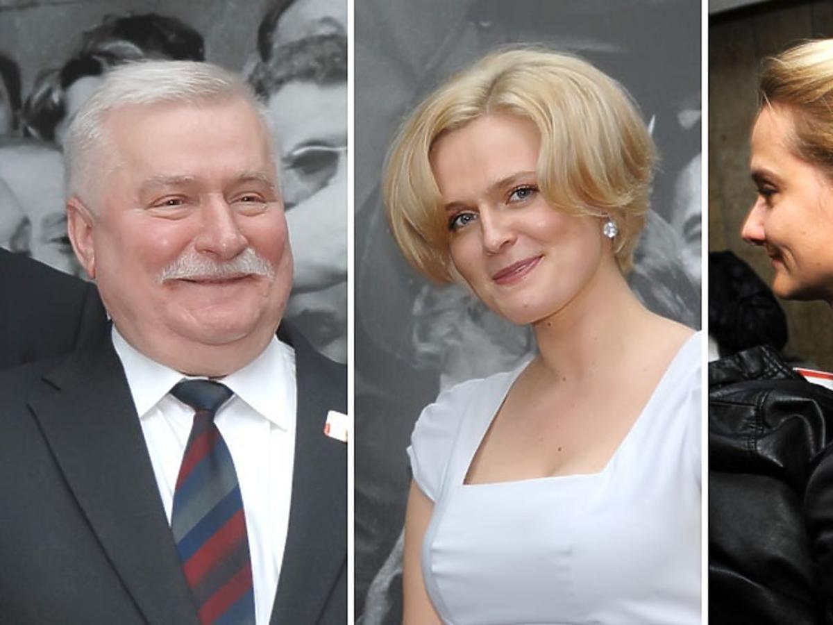 Portrety Lecha Wałęsa i córek: Marii oraz Magdaleny