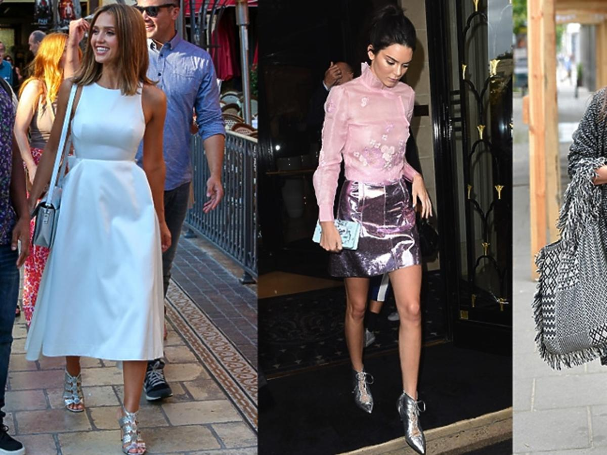 Jessica Alba, Kendall Jenner, Natalia Kukulska w srebrnych metalicznych butach