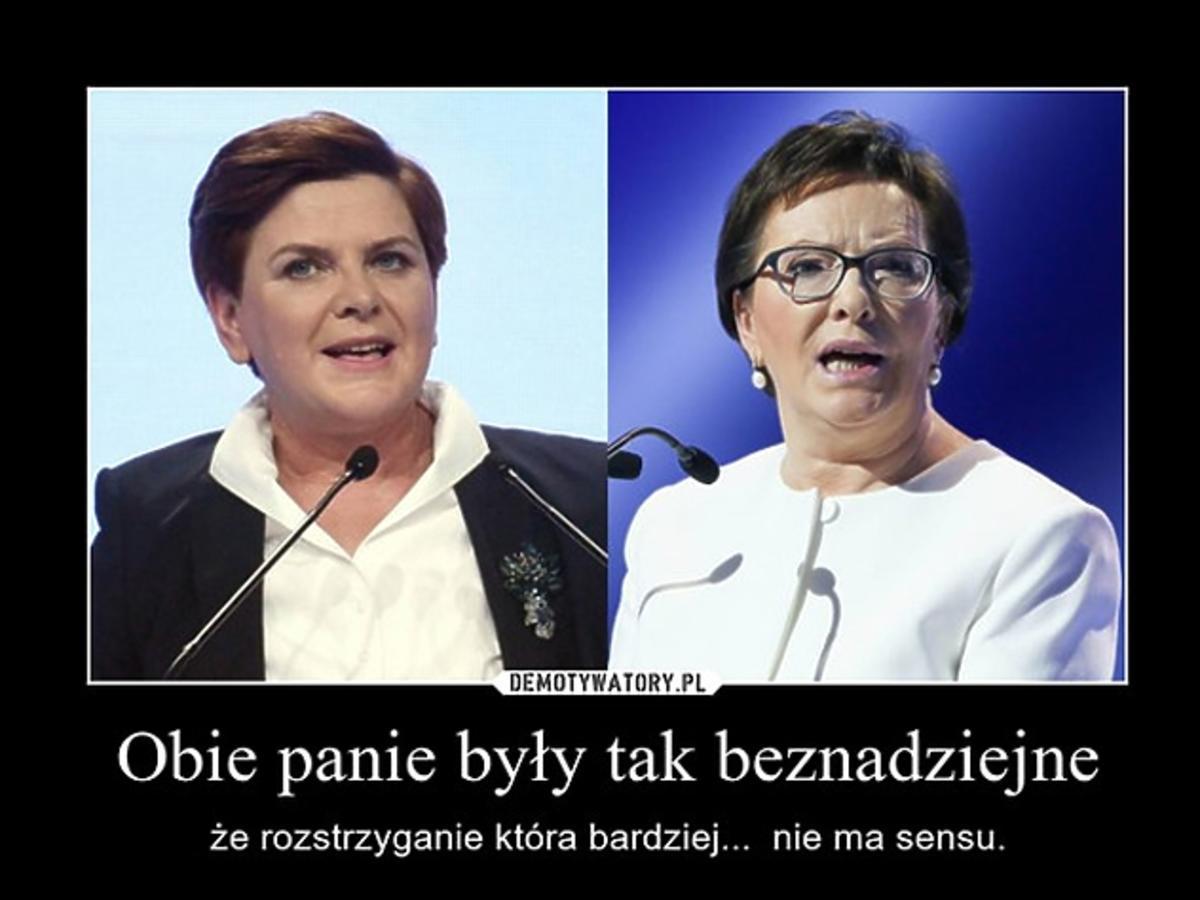 Internetowe memy po debacie kandydatek na premiera