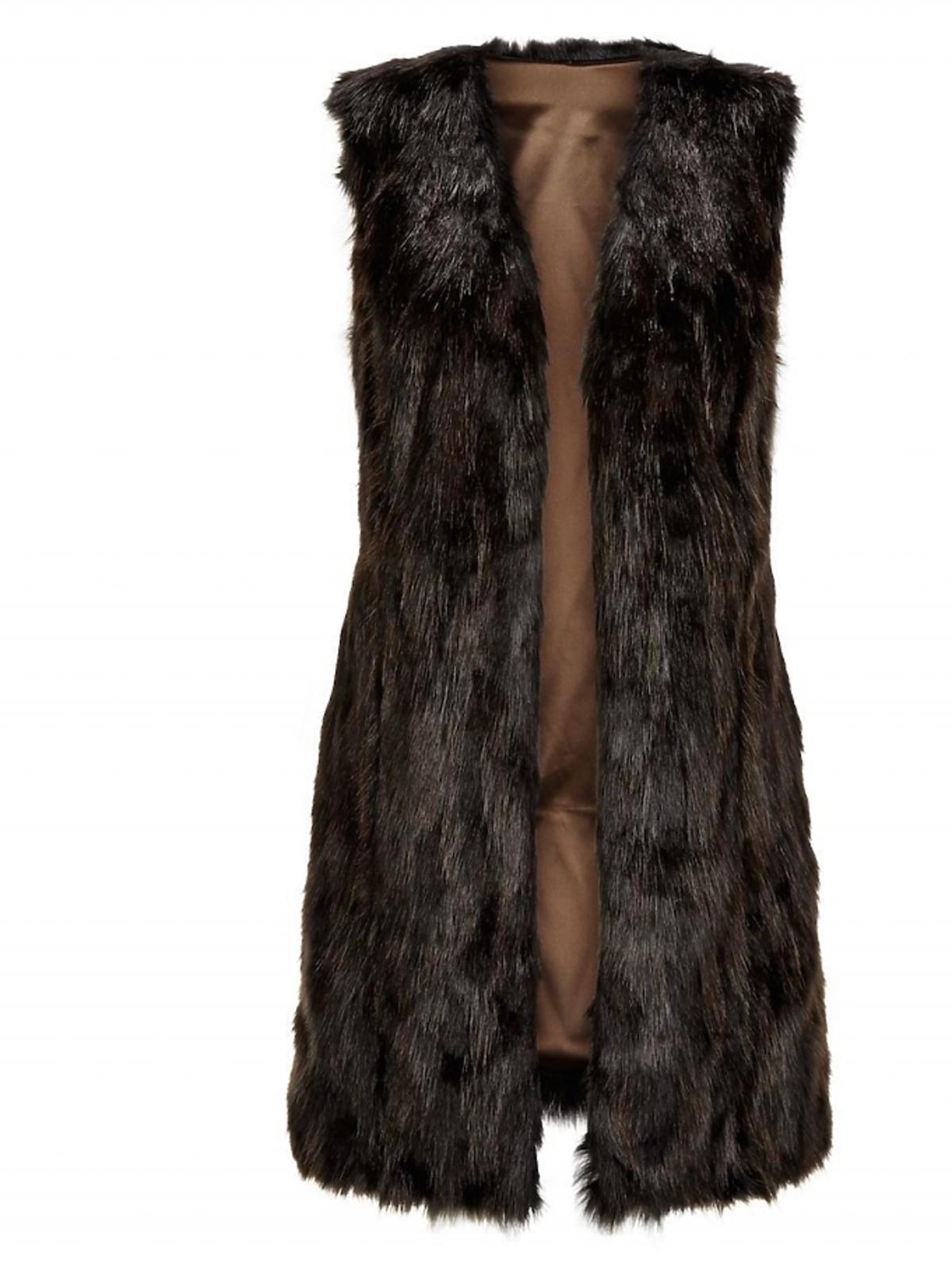 Futrzana kamizelka w czarnym kolorze