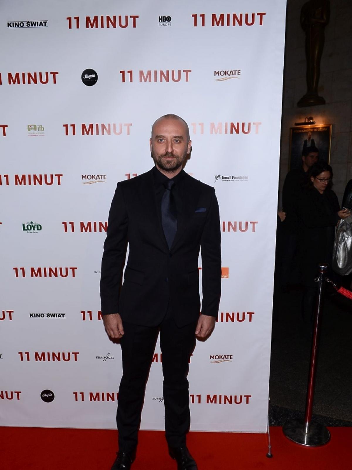 Wojciech Mecwaldowski na premierze filmu