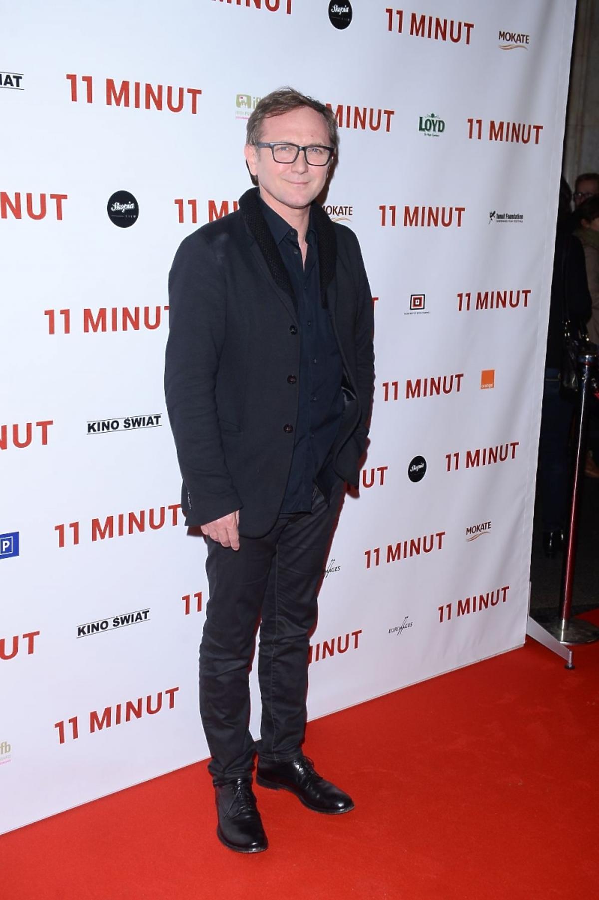 Andrzej Chyra na premierze filmu