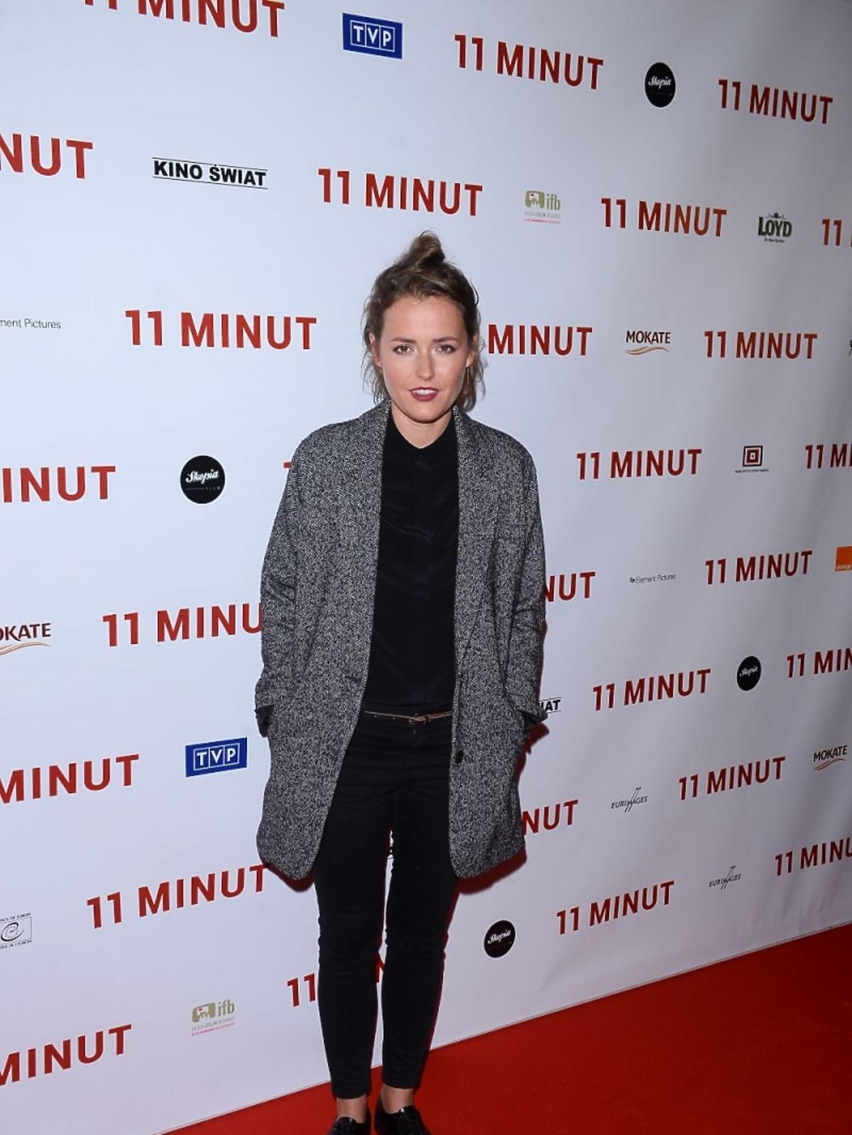 Olga Frycz na premierze filmu