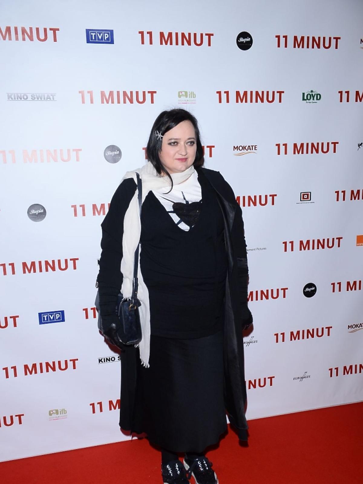 Gosia Baczyńska na premierze filmu