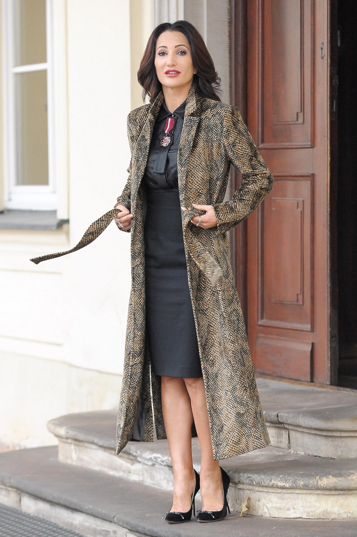 Justyna Steczkowska w czarnej sukience