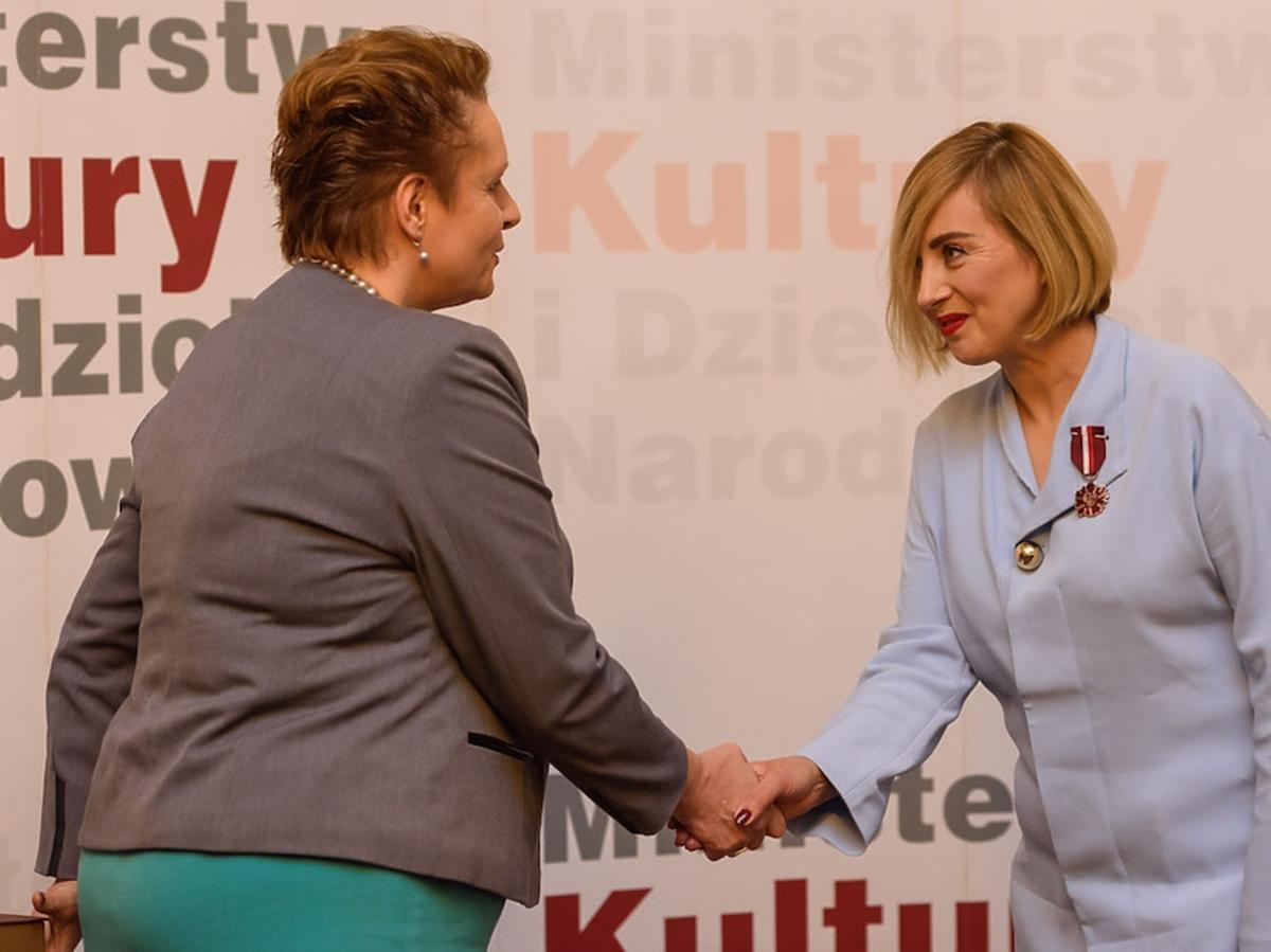 Edyta Bartosiewicz odebrała medal Gloria Artis