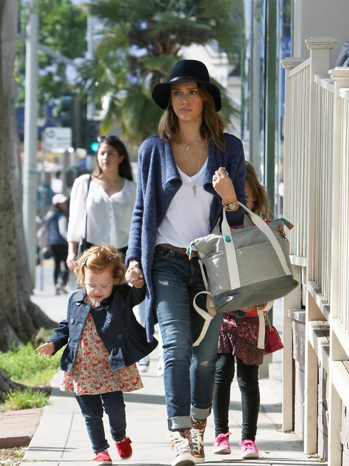 Jessica Alba z dziećmi