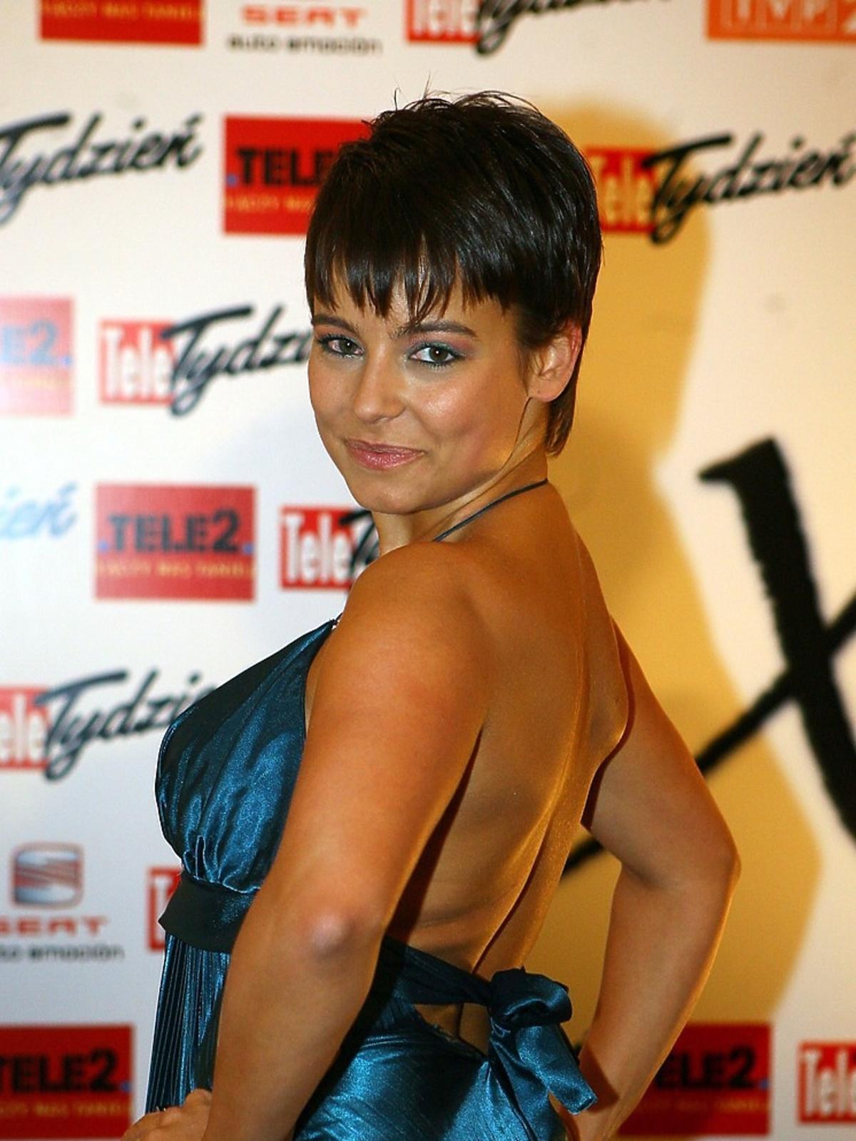 anna ucha w sukience z odkrytymi plecami w 2007