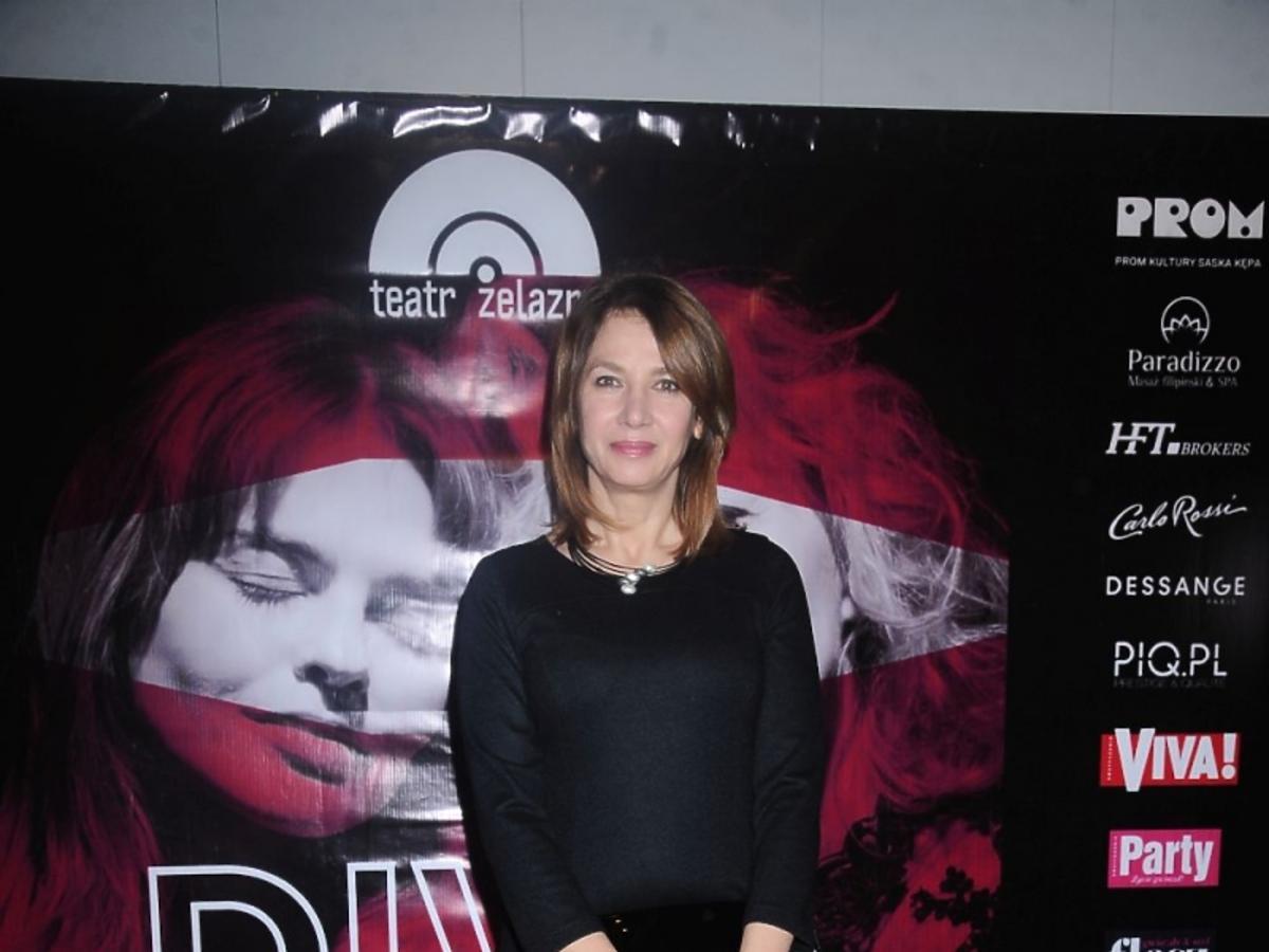 Grażyna Wolszczak w czerni
