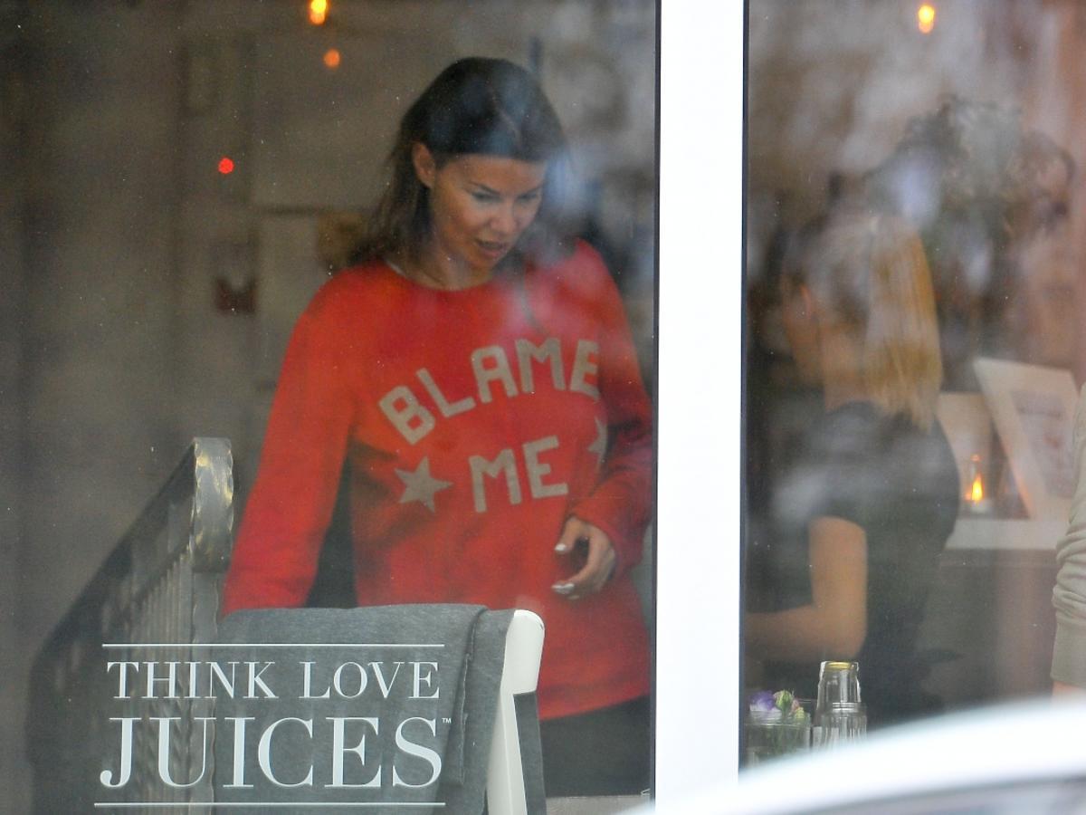 Edyta Górniak w restauracji Think Love Juices