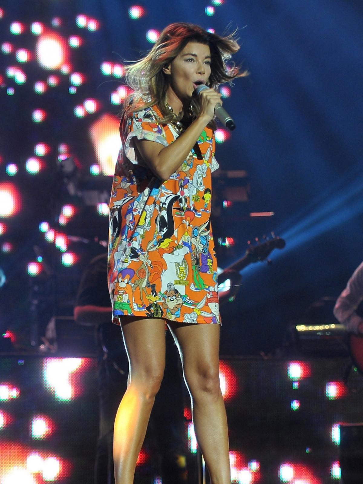 Edyta Górniak w kolorowej sukience