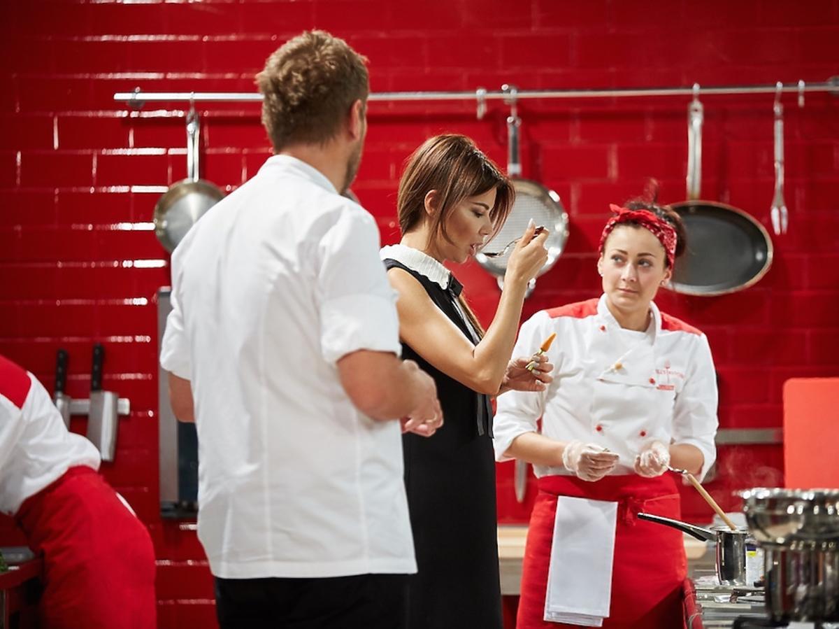 Edyta Górniak i Wojciech Modest Amaro w programie Hell's Kitchen