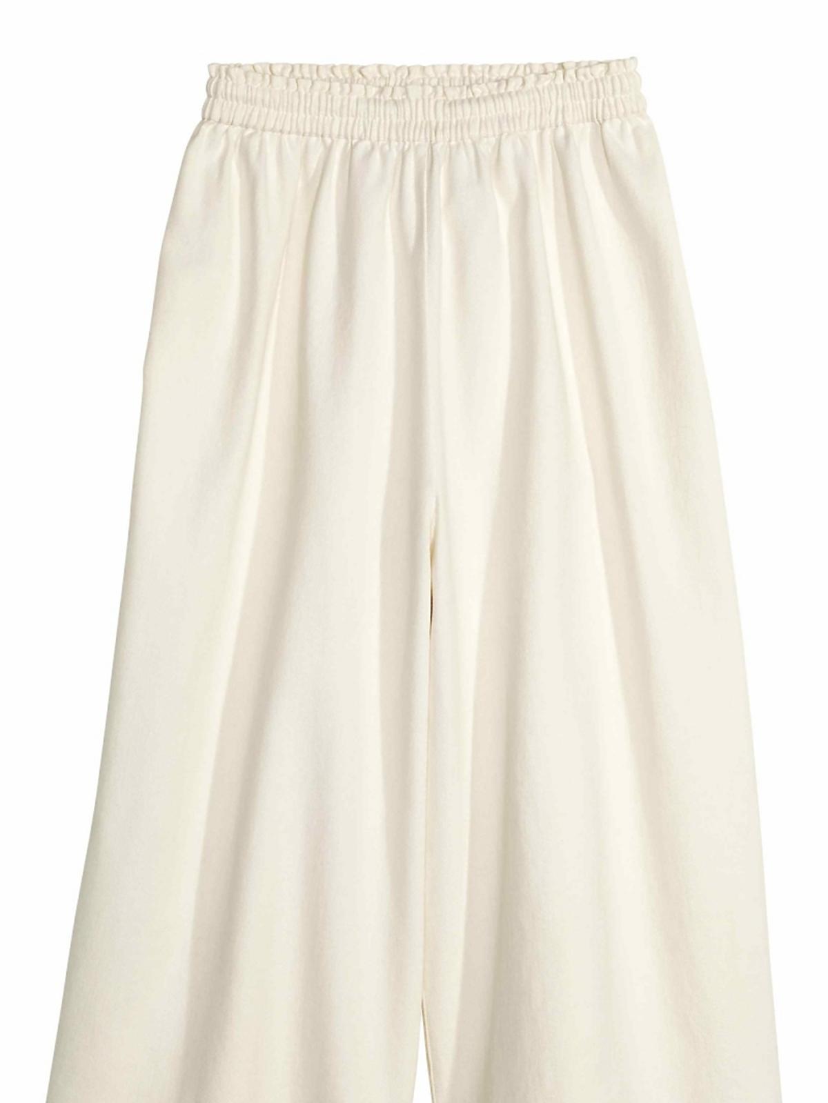 białe spódnicospodnie