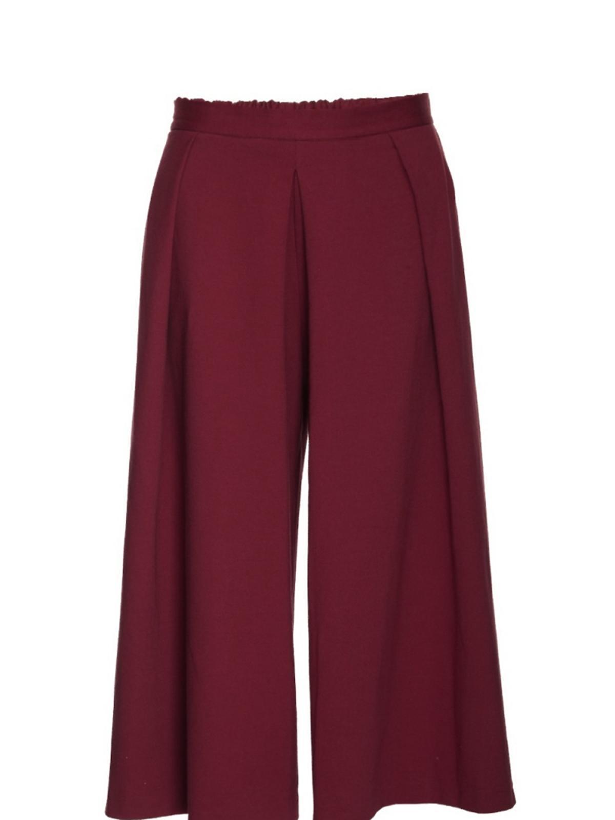 bordowe spódnicospodnie