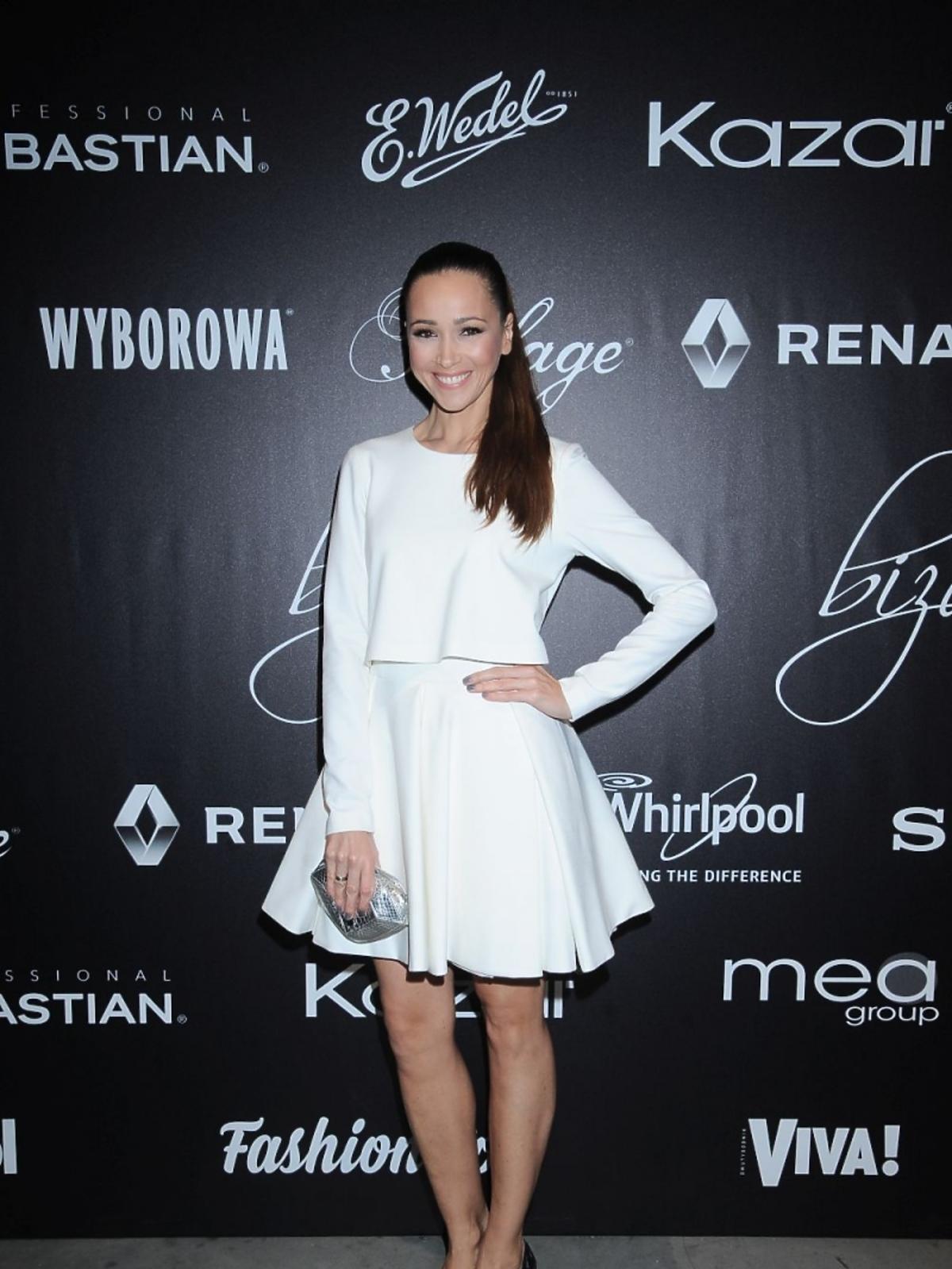 Dorota Czaja w białej sukience