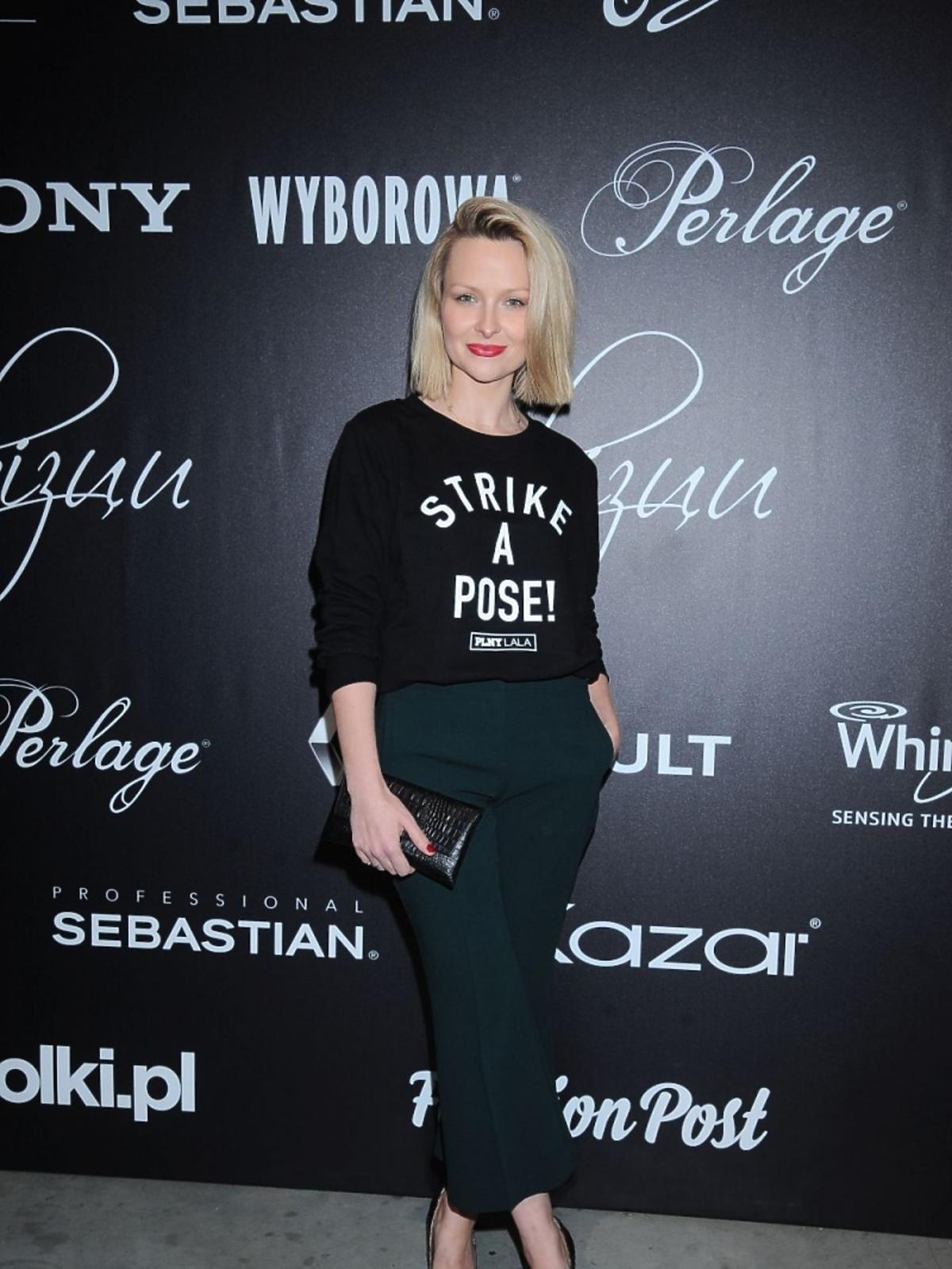 Marietta Żukowska w zielonych spodniach