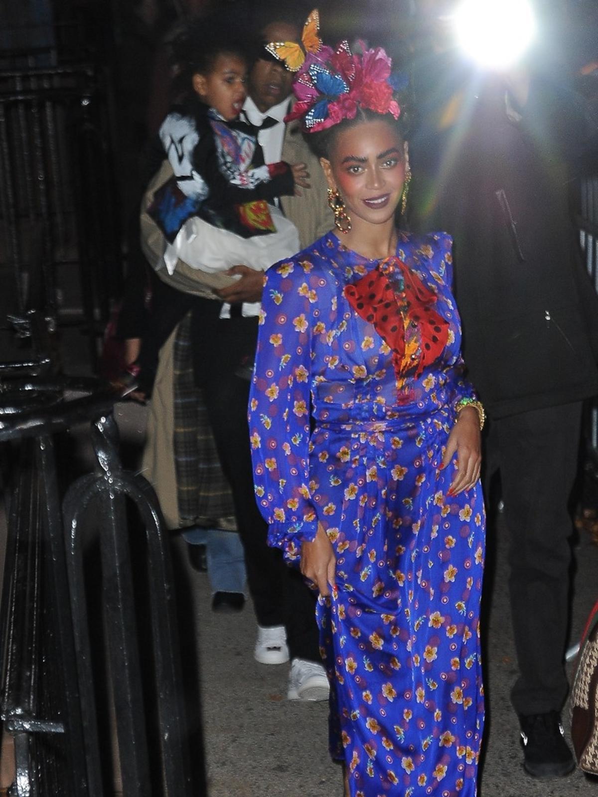 Beyonce, Jay Z z córeczka Blue na Halloween Parade.