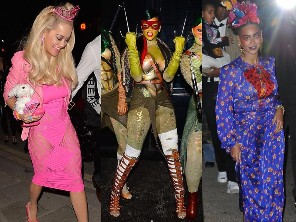 Rita Ora, Rihanna, Beyonce zestawienie trzech zdjeć.