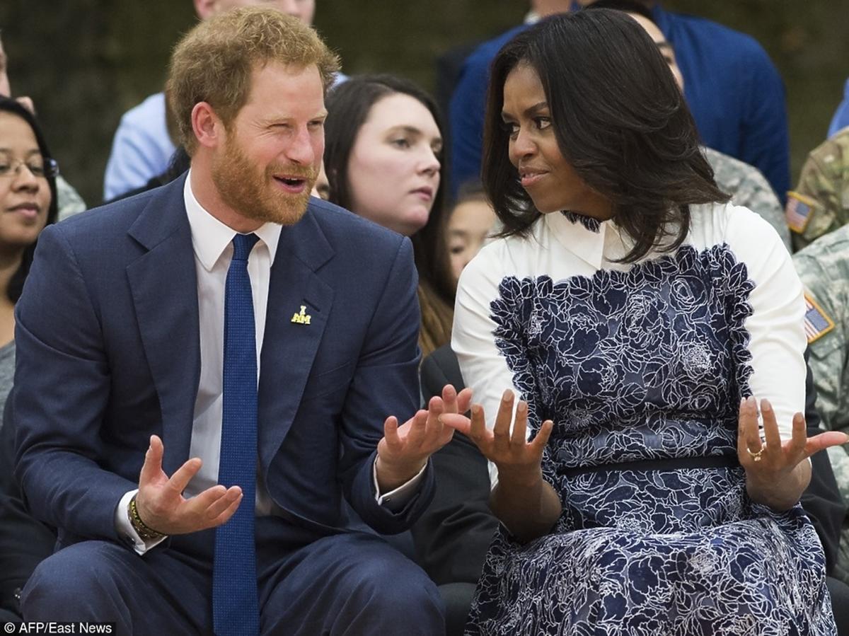 książę Harry i Michelle Obama