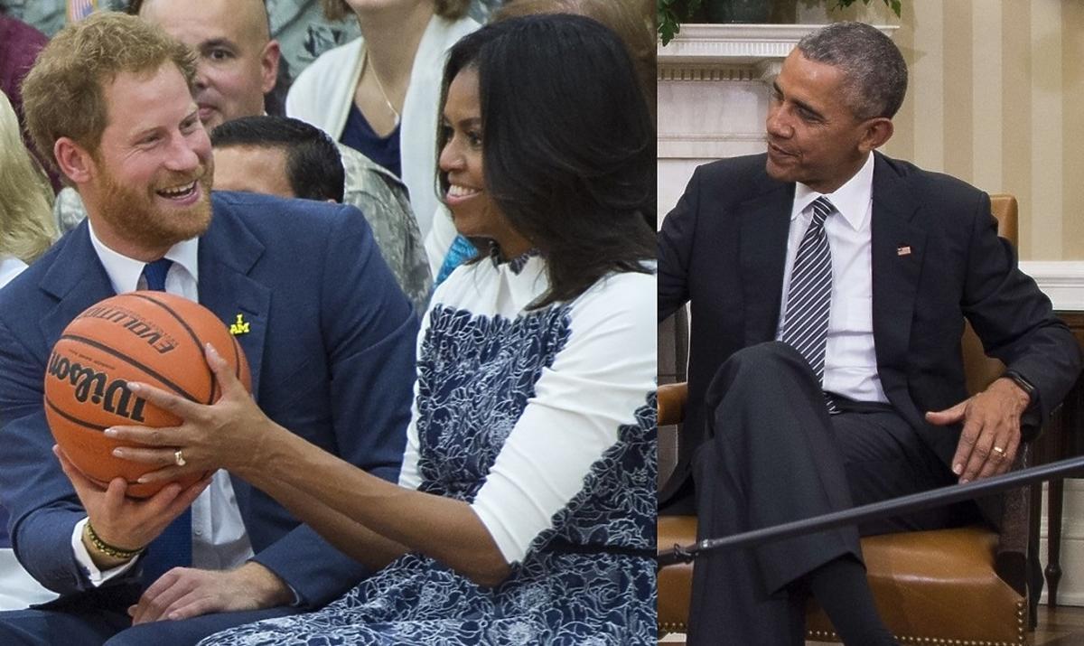 książę Harry, Michelle Obama, Barack Obama